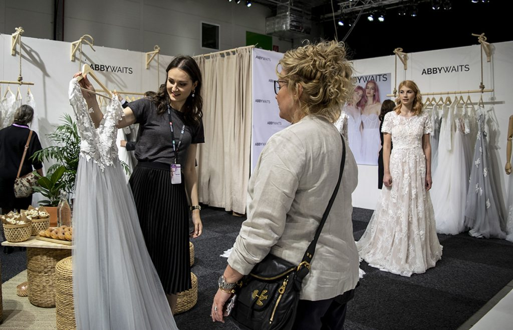 Abby Waits stand at Nordic Bridal Show